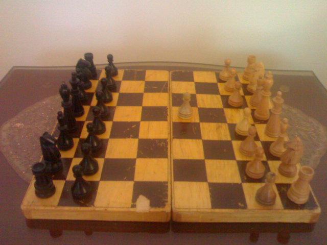 شطرنج چوبی غنیمتی از عراق